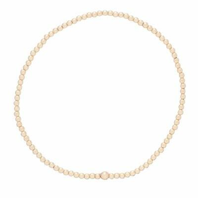 eNew classic gold bead bracelets - 2mm