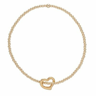 eNew Classic Gold love gold charm