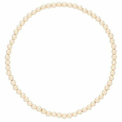eNew classic gold bead bracelets - 3mm