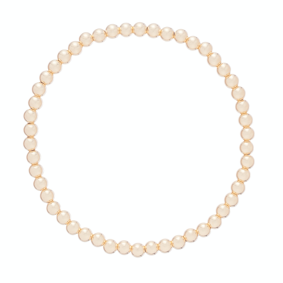 eNew classic gold bead bracelets - 4mm
