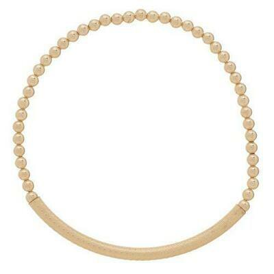 eNew bliss bar textured bracelet gold beads