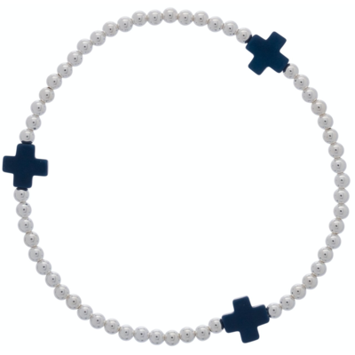 eNew signature cross sterling - navy