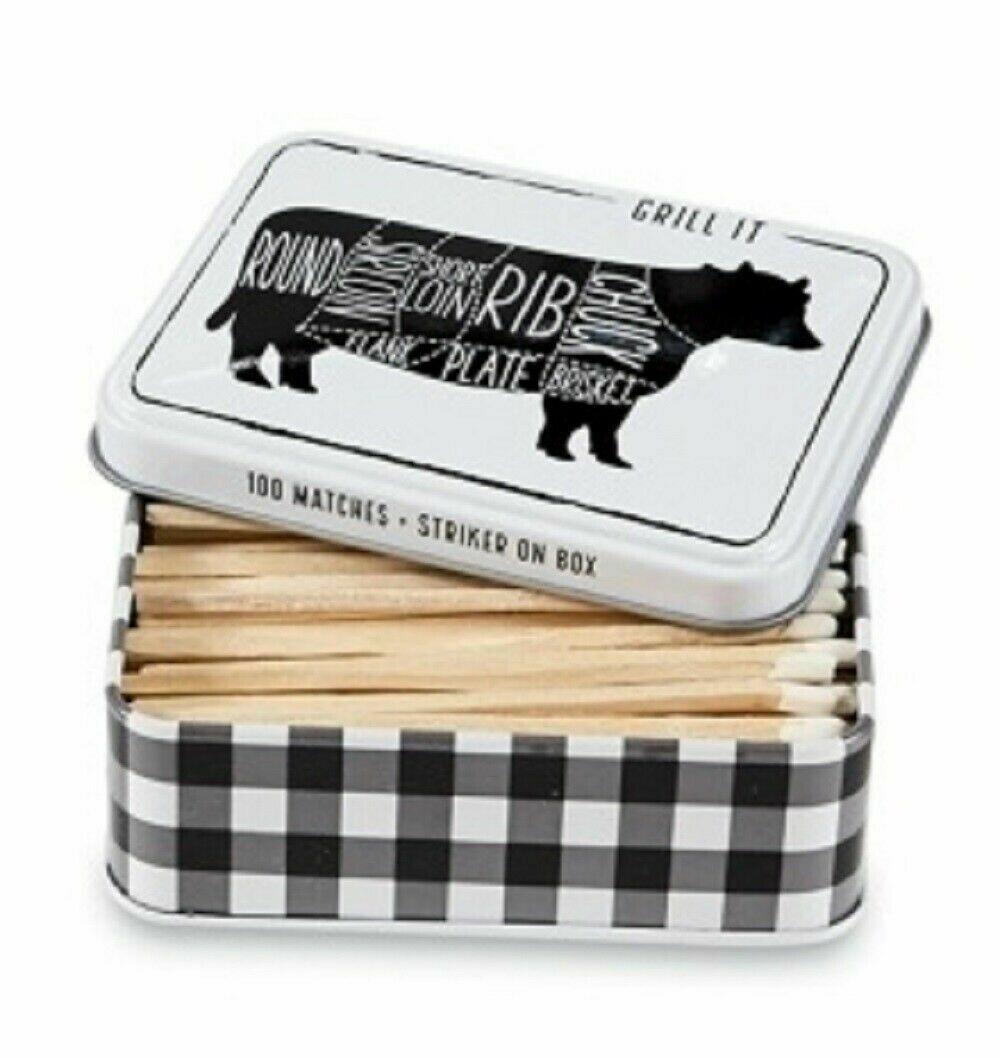 MP Tin Matchbox set - cow
