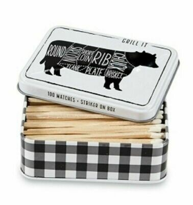 MP Tin Matchbox set - cow
