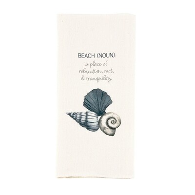 Watercolor Shell Towel - beach definition