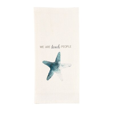 MP Watercolor Shell Towel - we are
