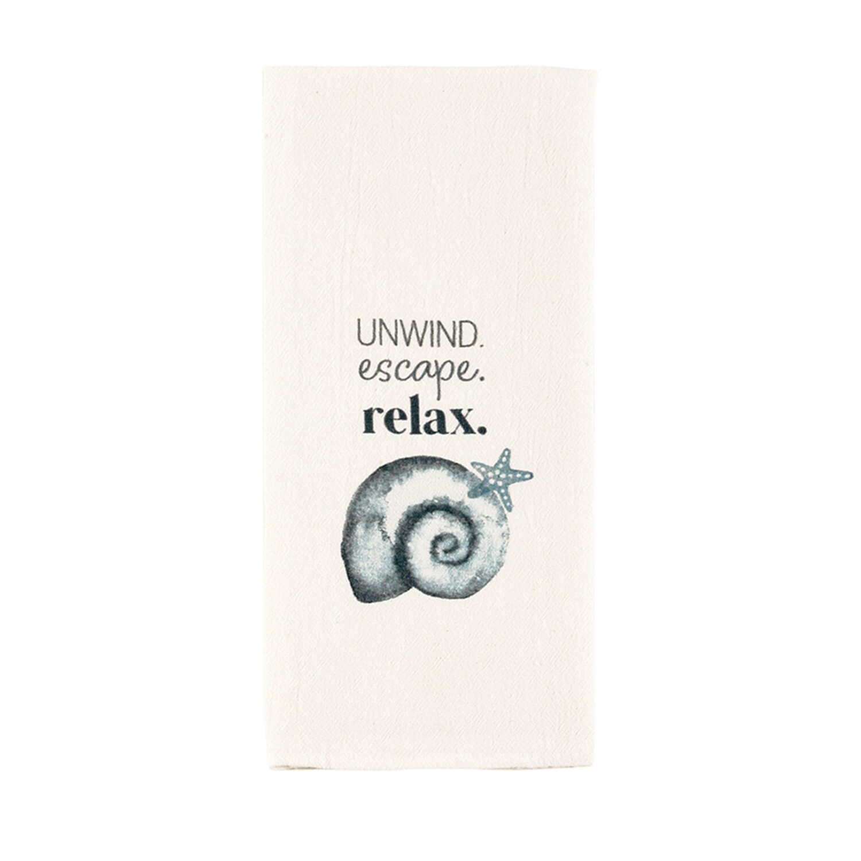 Watercolor Shell Towel - unwind