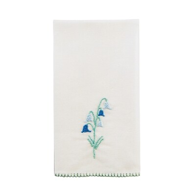 French knot tea towel - bluebell