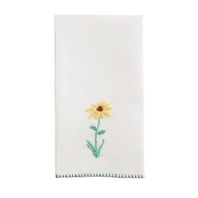 MP french knot tea towel - daisy
