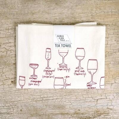 GCT Tea Towel - Wine Glasses