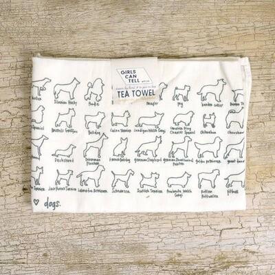GCT Tea Towel - Dogs