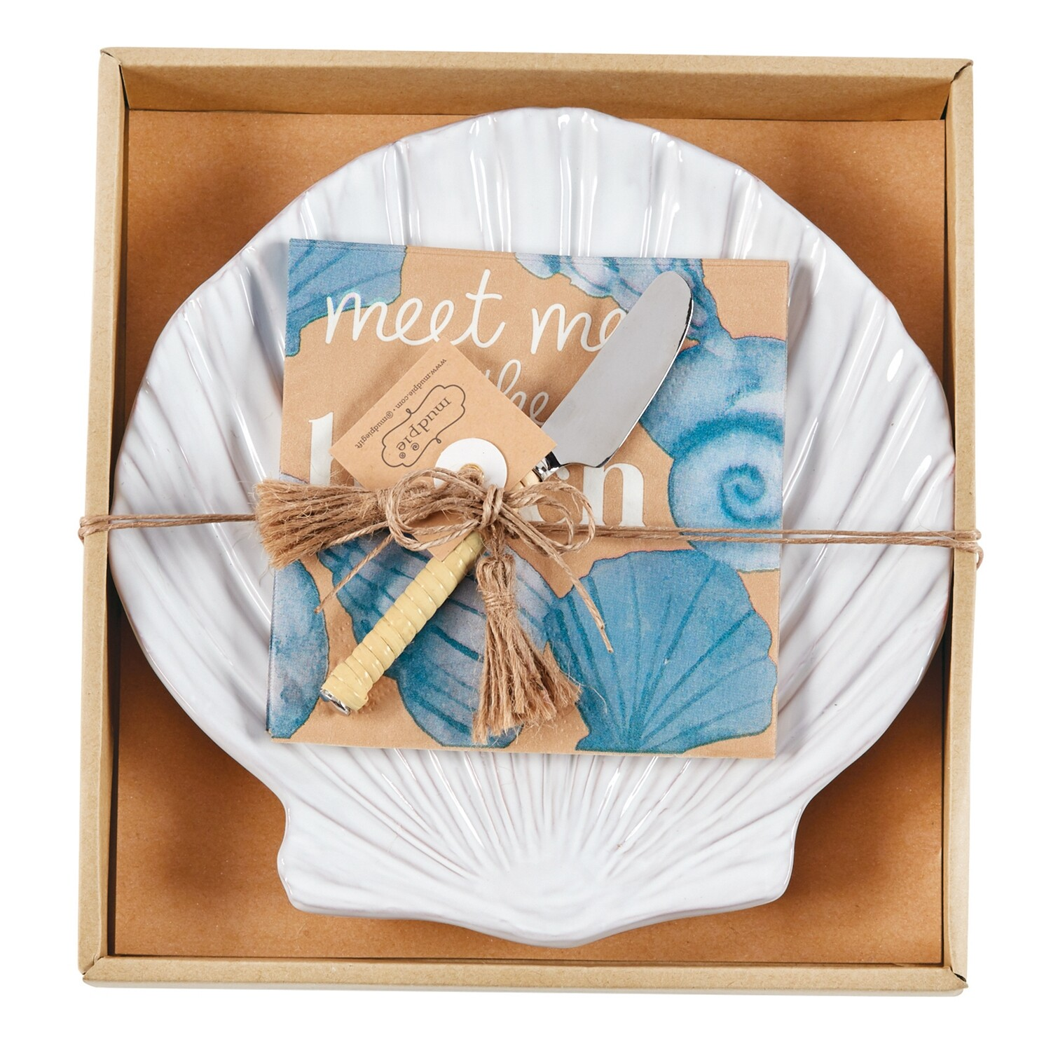 Shell Cheese Plate Set