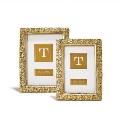 2C Gold Flower Frame - 5x7