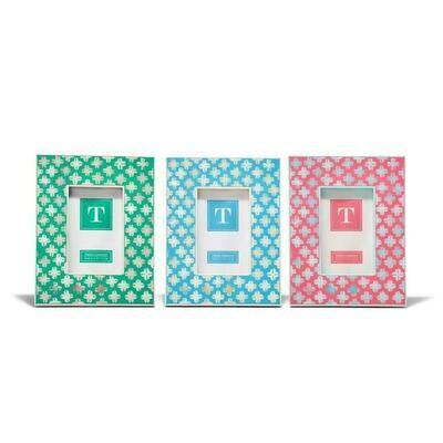 Bone Pattern Blue/Green/Pink Frame