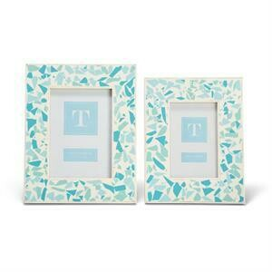 Blue Terrazzo Inlay Frame