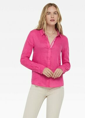 Ecru Faded Fuschia Blouse