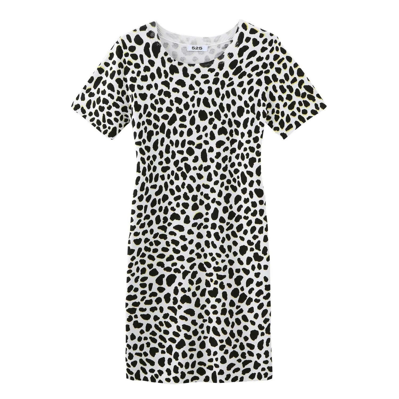 525 Bleach White Multi Knit Dress