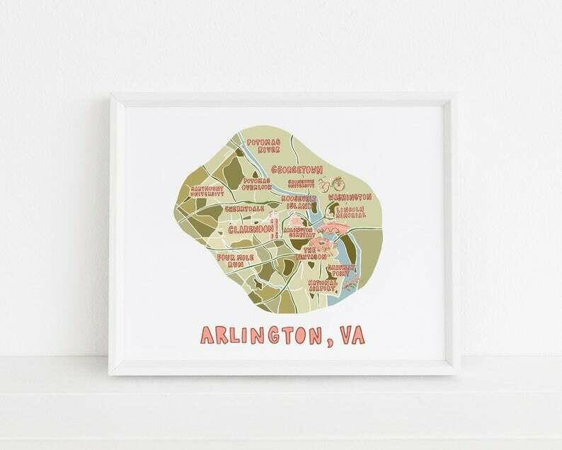 Arlington Map Print