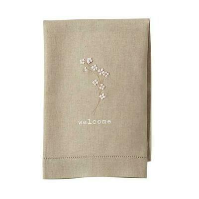MP french knot tea towel - cotton stem