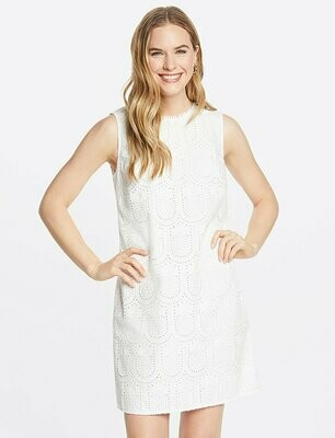 DJ Pineapple Eyelet Shift Dress