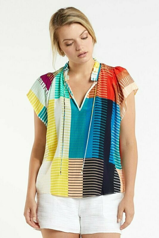 MO Francie Blouse Matchstick Multi