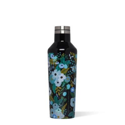 Corkcicle Canteen 16oz - Rifle Paper Garden Party  Blue