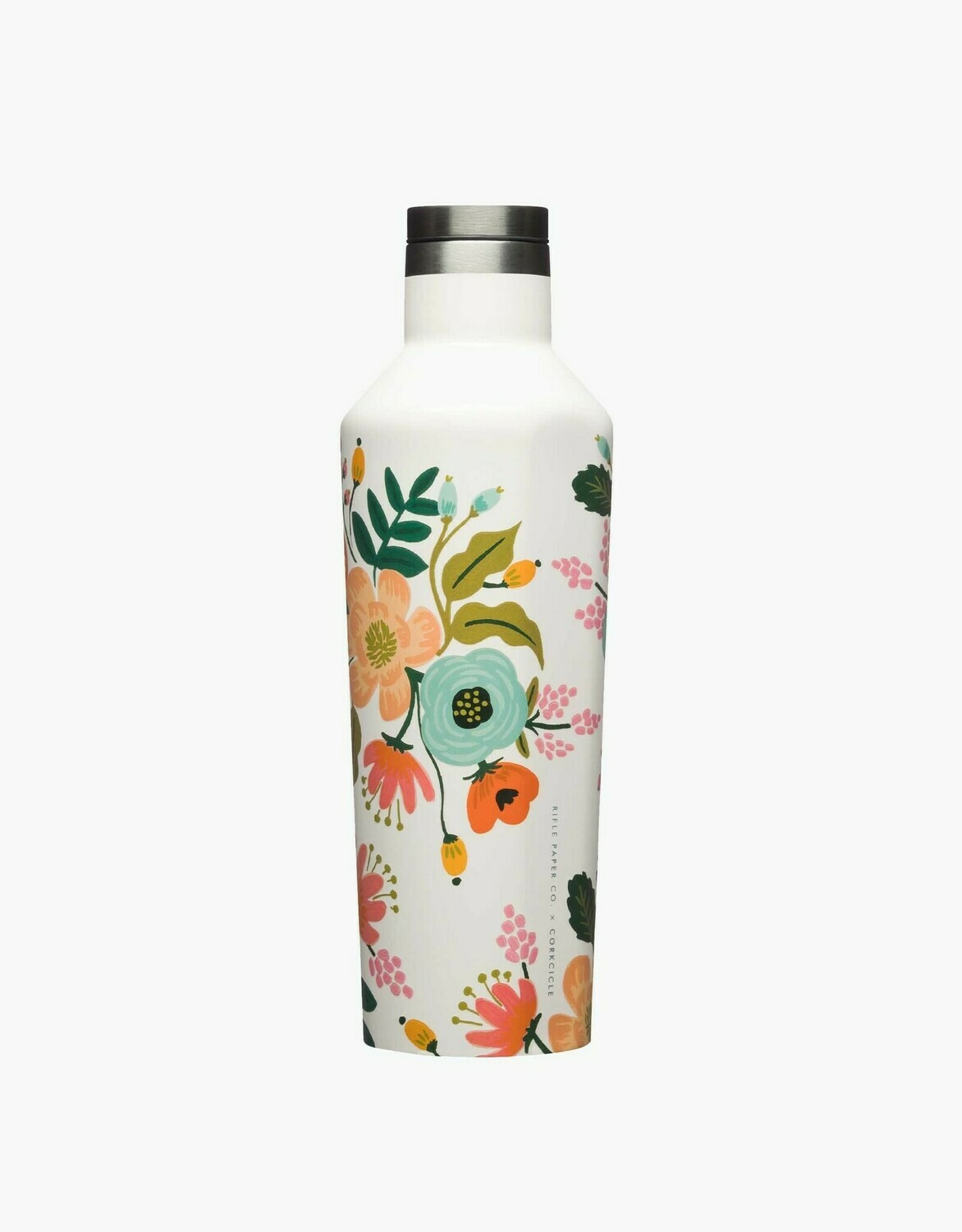 Corkcicle Canteen - 16oz Rifle Paper Cream  Lively Floral