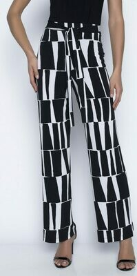 FL Black White Geo White Geo Wide Pant