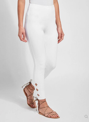 Lysse Side Scallop Denim White