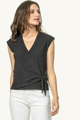 LP Faux Wrap Top Black
