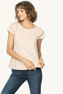 LP Pintuck Neck Tee Blush