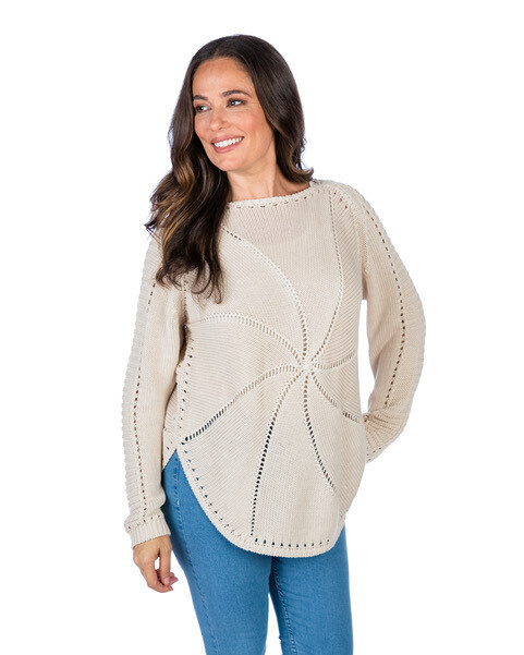 AC Sand Dollar Cotton Cashmere Pullover