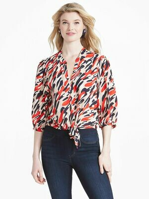 Nic + Zoe Santa Fe Tie Shirt