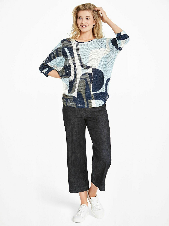 Nic + Zoe Shape of Blue Sweater