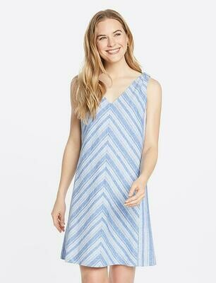 Draper James Linen Knot Shoulder Shift Dress