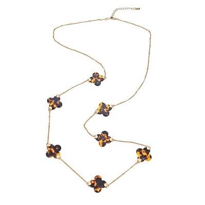Fornash Long Clover Tortoise Necklace