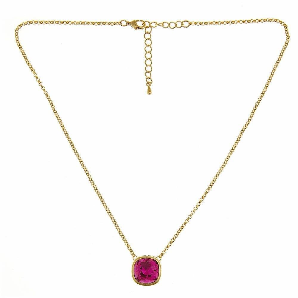 Fornash Pink Short Poppy Necklace