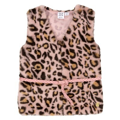 DPD Animal Print Fur Vest