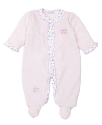 Kissy Perfect Pirouette Velour Footie