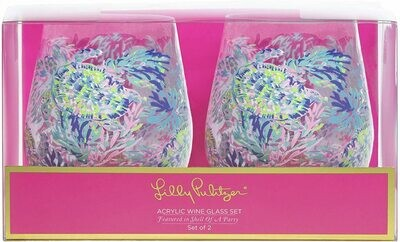 Lilly Stemless Wine Glasses - Shell of a party