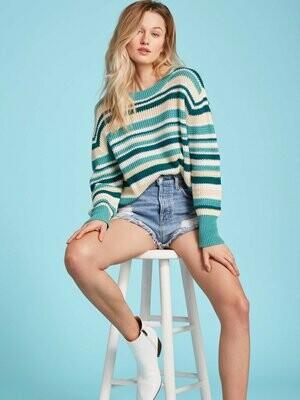 525 Textured Stripe Pullover