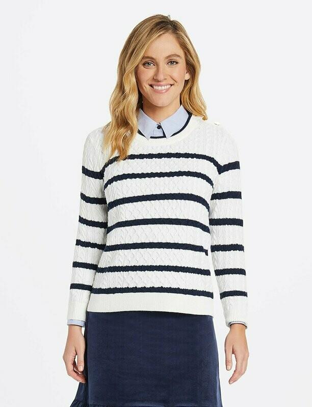 Draper Sailor Cable Knit Sweater