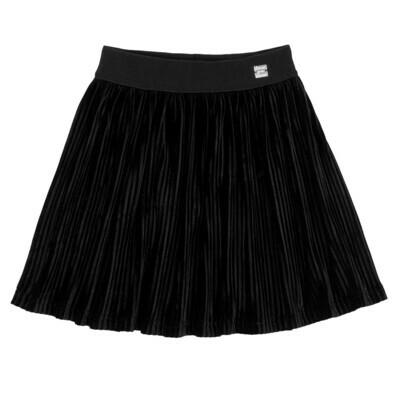 DPD Pleated Velvet Skirt