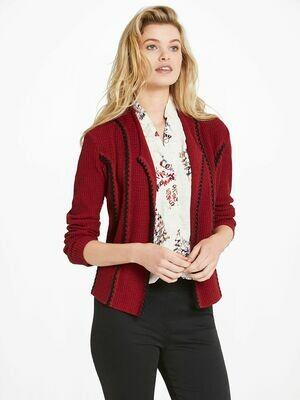 Nic + Zoe Red Maple Cafe Jacket