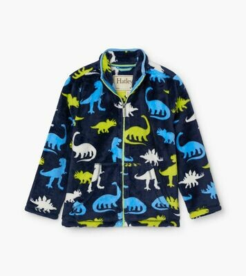 Hatley Silhouette Dinos Fuzzy Fleece Zip Up