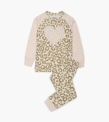 Hatley painted leopard organic cotton PJs
