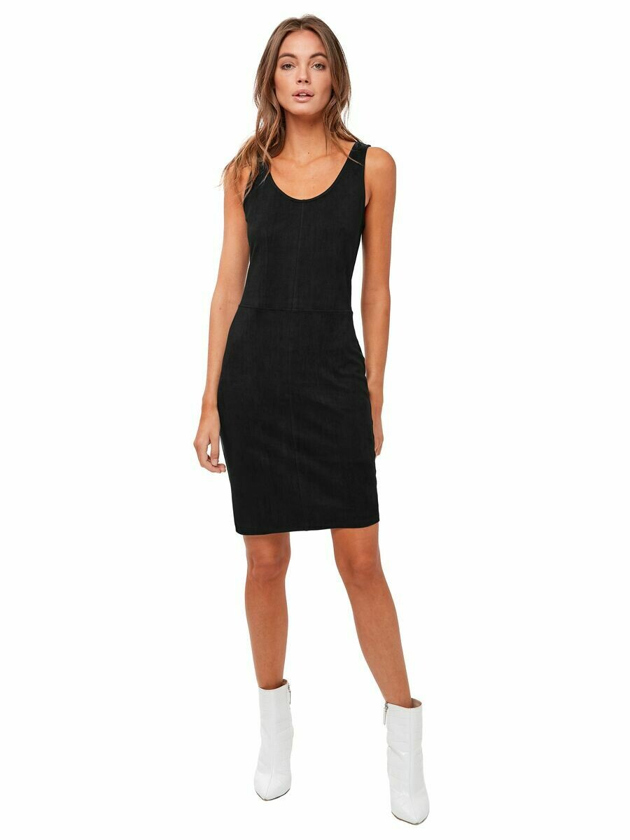 AStars Justine Vegan Leather Dress Black