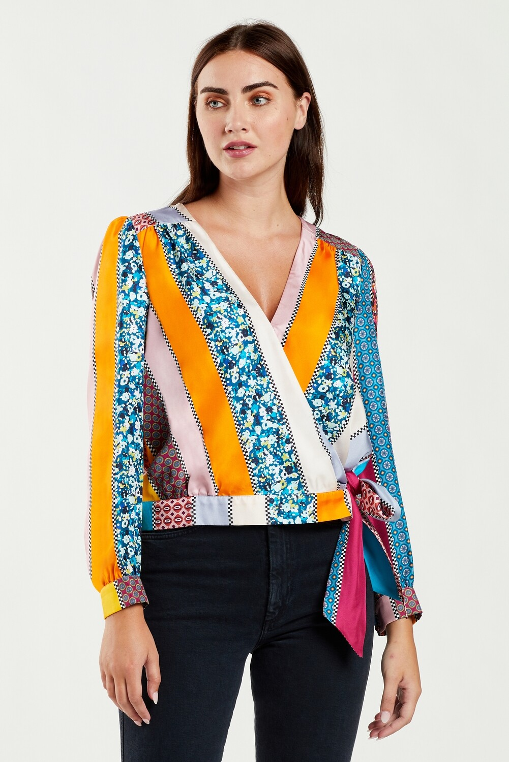 MO Brielle Blouse Stripe