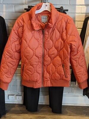 Symphony Orange Quilted Jacket
