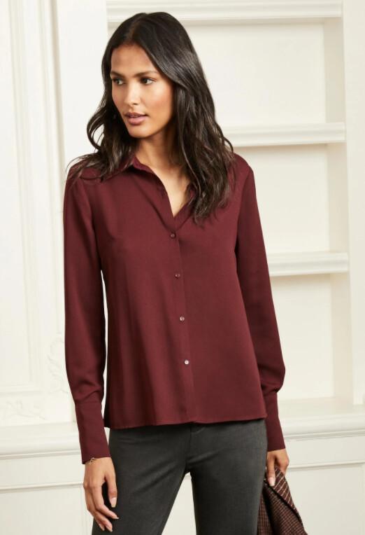 Ecru Hepburn Shirt Rust